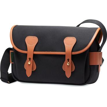 Billingham S3 Shoulder Bag (Black Canvas/Tan Leather)