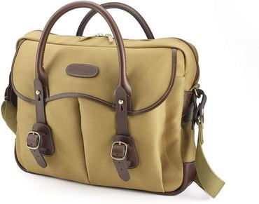Billingham Thomas Briefcase & Laptop Bag (Khaki FibreNyte/Chocolate Leather)