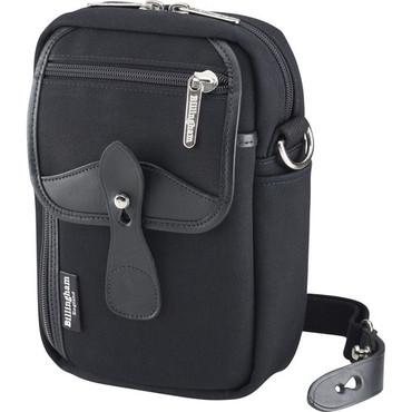 Billingham Stowaway Airline Shoulder Bag (Black/Black Leather)