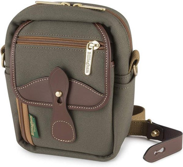Billingham Stowaway Airline Shoulder Bag, Sage Fibrenyte/Chocolate