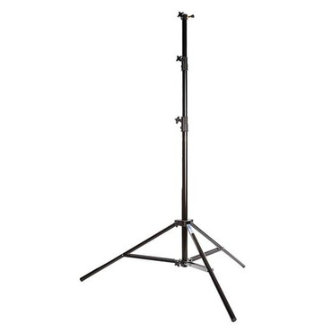 Savage 13' Four-Section Heavy Duty Air-Cushioned Light Stand, 4 Section with 3 Risers, Black