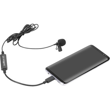 Saramonic LavMicro-UC Omnidirectional Lavalier Mic for USB-C Devices with Signal Converter