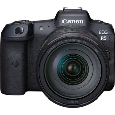 CANON R - Canon EOS R5 Mirrorless Digital Camera with 24-105mm f/4 L Lens