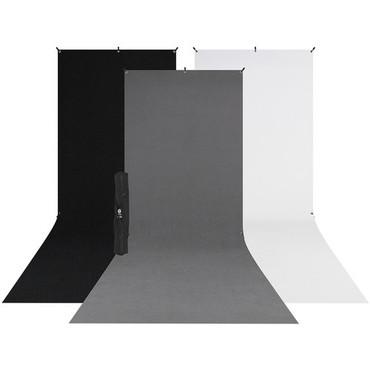 Westcott X-Drop 3-Pack Sweep Backdrop Kit (5 x 12')