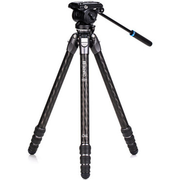 Benro Tortoise Carbon Fiber 3 Series Tripod System with S4Pro Video Head