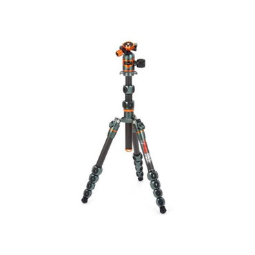3 Legged Thing Legends Ray 5-Section Carbon Fiber Travel Tripod System with AirHed Vu Ball Head, Gray