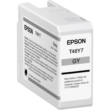 Epson T46Y Gray UltraChrome PRO10 Ink Cartridge (50mL) (ACE63124)