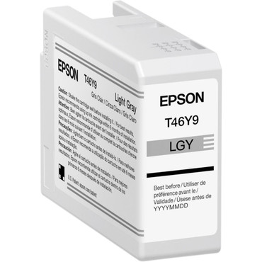 Epson T46Y Light Gray UltraChrome PRO10 Ink Cartridge (50mL) (ACE63125)