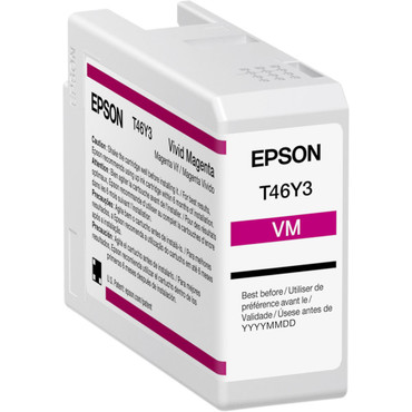 Epson T46Y Magenta UltraChrome PRO10 Ink Cartridge (50mL) (ACE63126)