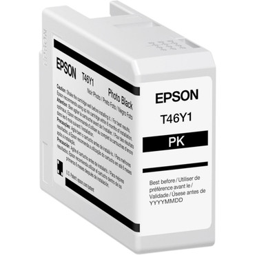 Epson T46Y Photo Black UltraChrome PRO10 Ink Cartridge (50mL) (ACE63128)