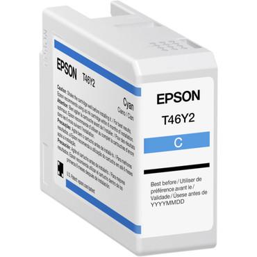 Epson P900 INK T46Y Cyan UltraChrome PRO10 Ink Cartridge (50mL)