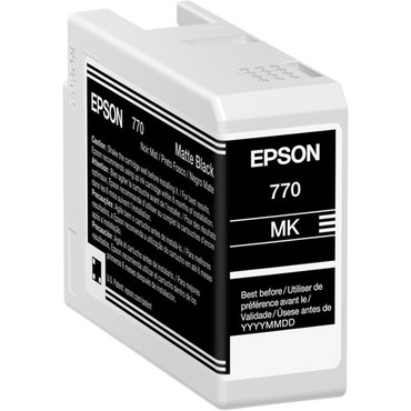 Epson 770 UltraChrome PRO10 Matte Black Ink Cartridge (25mL) (ACE63266)