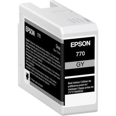 "Epson 770 UltraChrome PRO10 Gray Ink Cartridge (25mL) For SureColor P700 13"" Photo Printer"