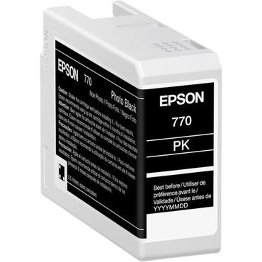 "Epson 770 UltraChrome PRO10 Photo Black Ink Cartridge (25mL) For SureColor P700 13"" Photo Printer"