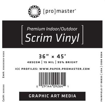 """Promaster Premium Indoor/Outdoor Scrim Vinyl 36""""x45' Roll"""