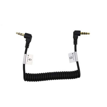 "Promaster Audio Cable 3.5mm TRRS male right angle - 3.5mm TRS male right angle - 8 1/2"" coiled (ACE63281)"