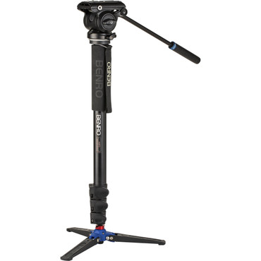 Benro A48FD Aluminum Monopod with 3-Leg Base & S4Pro Fluid Video