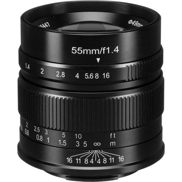 7artisans Photoelectric 55mm f/1.4 Lens for Fujifilm X (Black) (ACE63439)