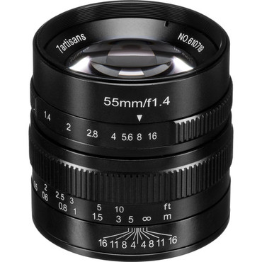 7artisans Photoelectric 55mm f/1.4 Lens for Micro Four Thirds (Black) (ACE63440)