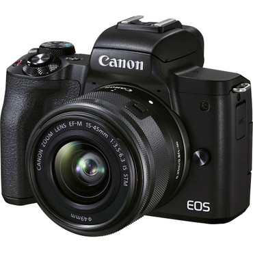 Canon EOS M50 Mark II Mirrorless Digital Camera with 15-45mm Lens (Black) (ACE63453)