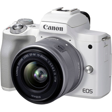 Canon EOS M50 Mark II Mirrorless Digital Camera with 15-45mm Lens (White) (ACE63455)