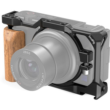 SmallRig Cage with Wooden Handgrip for Sony ZV1