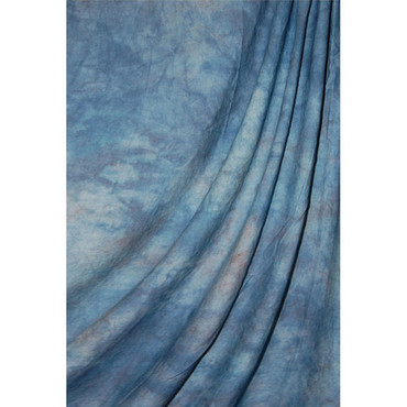 Savage Accent Crushed Muslin Background (10 x 24', Apex Blue)