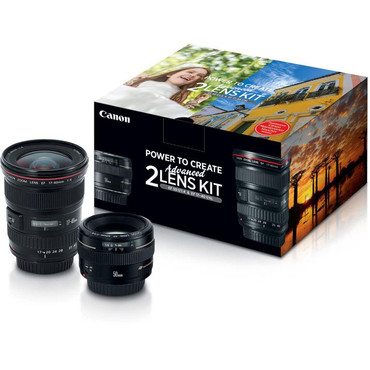 Canon Advance Lens Kit, EF 50mm F/1.4 with EF 17-40mm