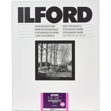 """Ilford MULTIGRADE RC Deluxe Paper (Glossy, 5 x 7"""", 25 Sheets)"""