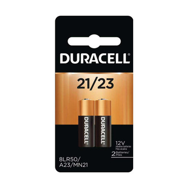 Duracell A21/A23 12V Watch / Electronic / Keyless Entry Household Battery, 2 Pack