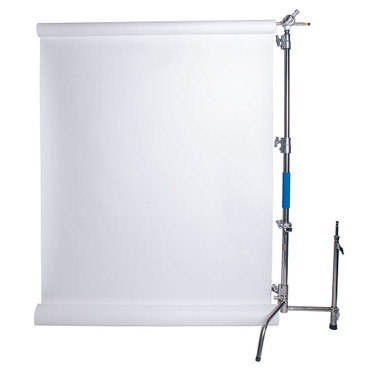 """Savage Stainless Steel C-Stand Kit with 53"""" x 18' White Seamless Paper (9.5')"""