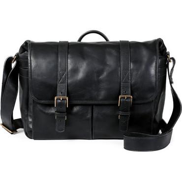 ONA Brixton Camera/Laptop Messenger Bag (Leather, Black)