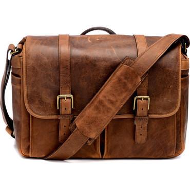 ONA Brixton Camera Laptop Messenger Bag (Antique Cognac)