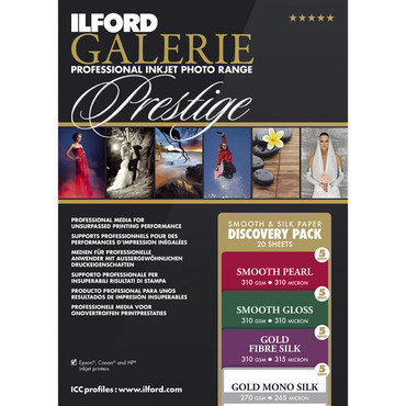 """Ilford GALERIE Prestige Smooth Silk Paper Discovery Pack (8.5 x 11"""", 20 Sheets)"""