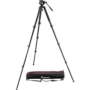 Manfrotto Manfrotto MT055XPRO3 Aluminum Tripod with 502HD Fluid Head Hybrid Video Kit