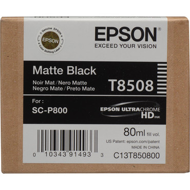 Epson T8508 UltraChrome HD Matte Black  for SC-P800
