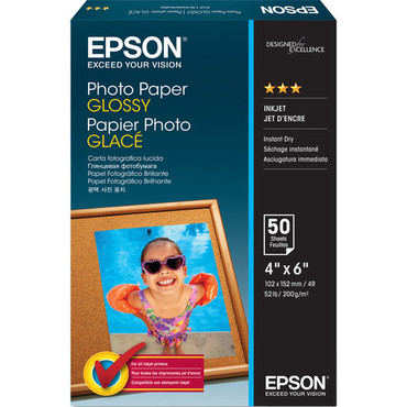 """Epson Value Photo Paper Glossy (4 x 6"""", 50 Sheets)"""