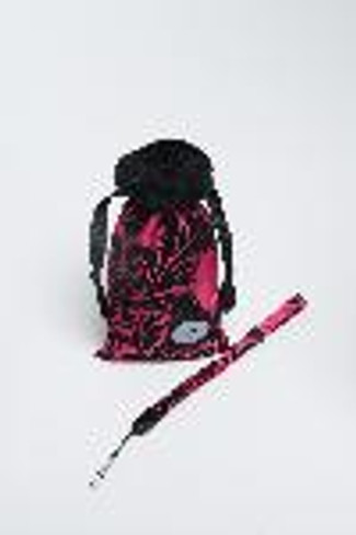 COMPACT CAM POUCH - HOT PINK VICTORIAN