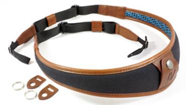 4V Design Large Neck Strap ALA - Univ. Fit Kit - Canvas, Tuscany Leather - black/brown