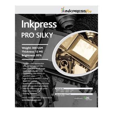 "Inkpress Pro Silky Photo Paper, 300gsm, 12mil, 95% Bright, 44""x100' Roll"