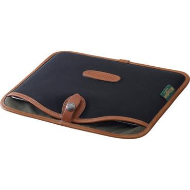 Billingham Tablet Slip Case (Black Canvas & Tan Leather Trim)