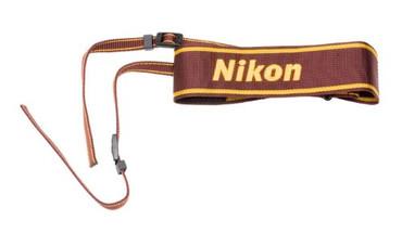 Nikon AN-6W Nylon Wide Camera Neck Strap - Wine