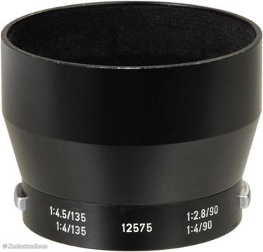 Pre-Owned - Leica Lens Hood for 90 F/4-M and 135Mm F/3.4-M Lenses Black and silver