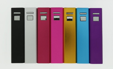 PlusPlus PowerStick 3000mAh Ultra Compact Lipstick Size Battery (Purple)