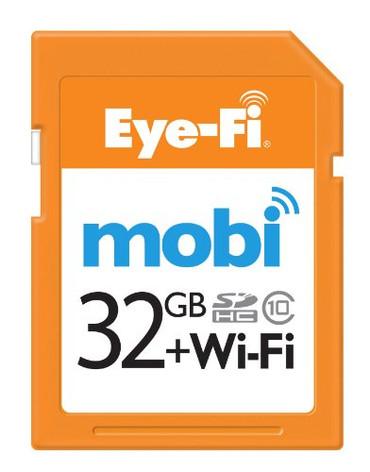 Eye-Fi Mobi 32GB SDHC Class 10 Wireless Memory Card, Frustration Free Packaging