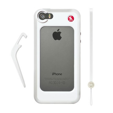 KLYP White Bumper for iPhone 5/5S + kickstand + hand-wrist strap