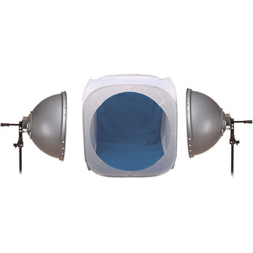 Interfit INT321 3 Lamp Fluorescent 2 Head Kit with 24-Inch Pop Up Light Tent Kit