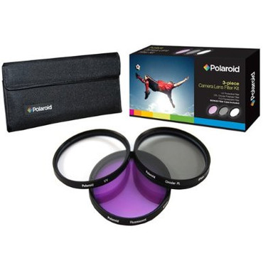 Polaroid Optics 67mm 3 Piece Filter Set (UV, CPL, FLD)
