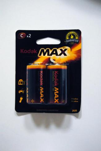 KODAK MAX ALKALINE BLISTER PACKS KC-2
