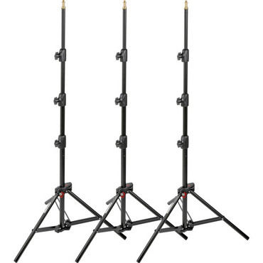 Manfrotto 1051BAC-3 Alu Mini Stand-Blk-Pk Of3
